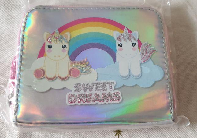 Carteira infantil Sweet Dreams unicórnios