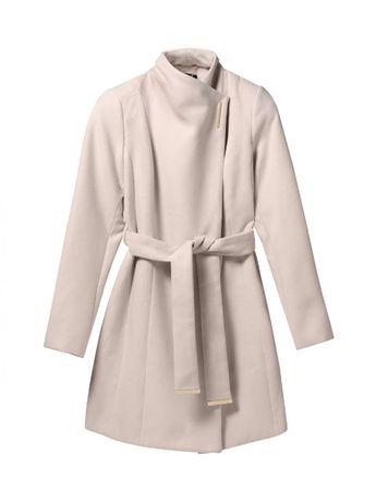 Ciepły kremowy płaszcz Mohito 42 xl