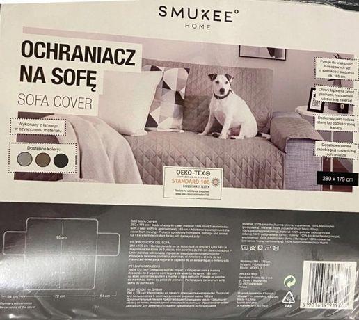 NOWY ochraniacz na sofe ciemny szary narzuta 280x179 pokrowiec