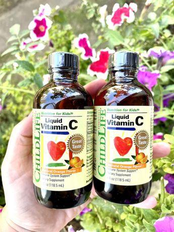Витамин С vitamin C ц детский жидкий со вкусом апельсина