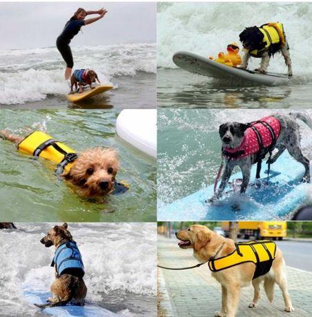 Colete ajustável, refletor, salva vidas para cães - XL - Azul