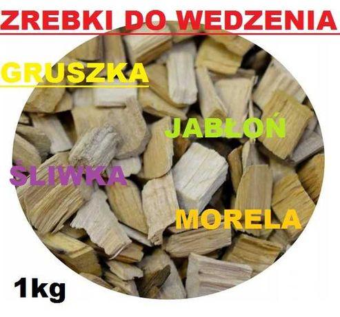 ZRĘBKI do wędzenia grill BBQ Grusza Jabłoń Śliwka Morela OWOCOWE 1kg