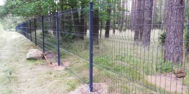 Ogrodzenie z siatki panel ogrodzeniowy Brama słupki czujak