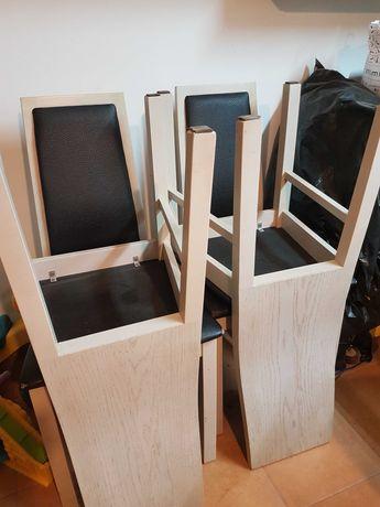 krzesła drewniane 4 szt .