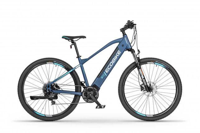Rower elektryczny EcoBike SX300 BLUE silnik centralny 840W