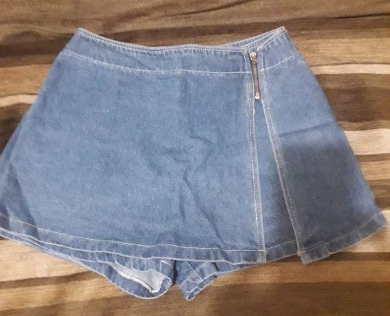 Юбка-шорты 46-48 р.голубой джинс.