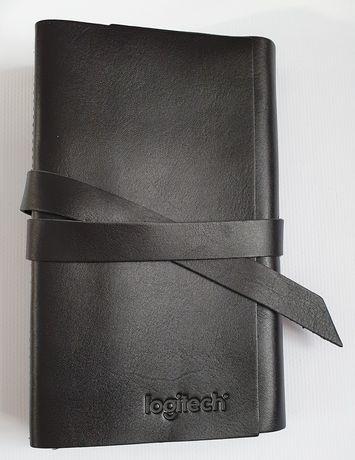 Чёрный кожаный блокнот