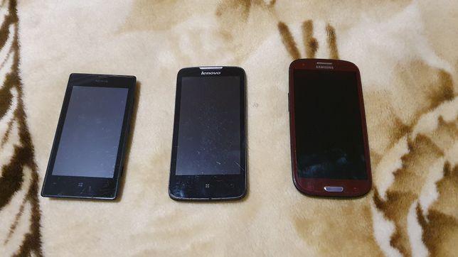 Lenovo A820, Nokia 520 , Samsung S3