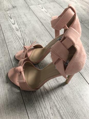 Buty sandałki pudrowy róż