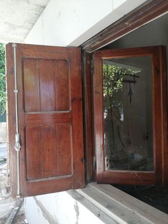 Janelas de vidro e portadas - vários tamanhos