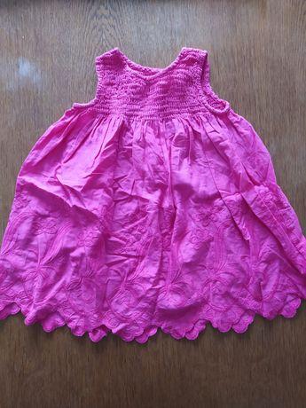 Śliczna sukienka z haftem na lato, letnia 9-12 miesięcy