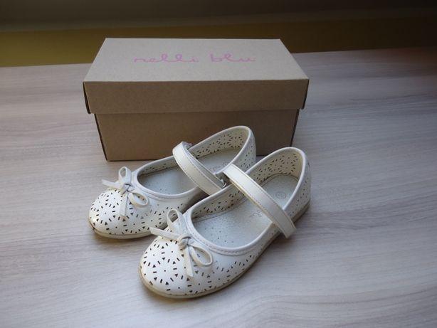 buciki dziewczęce Nelli Blu rozmiar 26 (długość wkładki 17,4cm) białe
