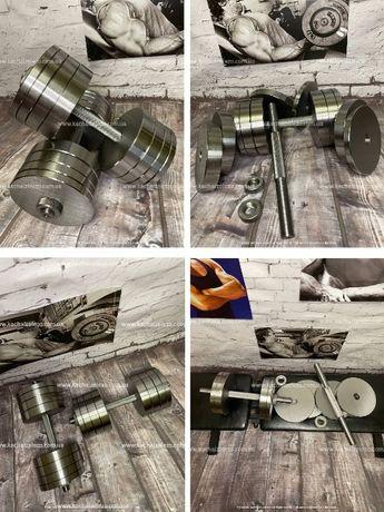 Гантели со стали от 12 - 70 кг ТОПОВОЕ КАЧЕСТВО