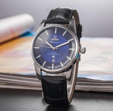 Zegarek męski Omega, 100% nowy, czarny pasek, piękna tarcza!