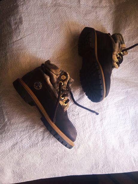 Ботинки детские зимние Timberland кожаные сапоги оригинал р27  17см