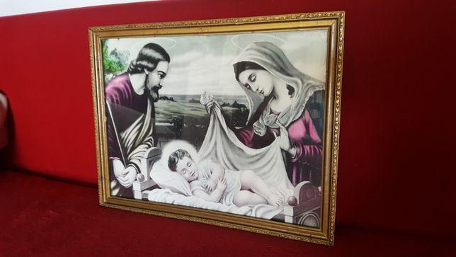 Stary obraz religijny Święta Rodzina