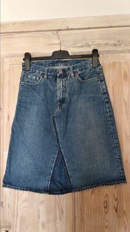 Jeansowa spódnica deconstructed rozmiar 36