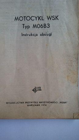 WSK książka oryginalna instrukcja M06b3