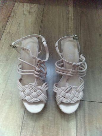 Sandały na koturnie h&m r.38