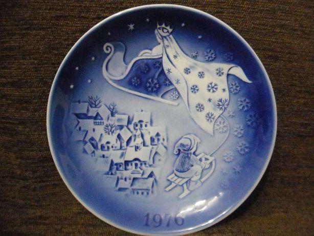 "Декоративная тарелка Denmark ""Снежная королева"" 1976. Клеймо"