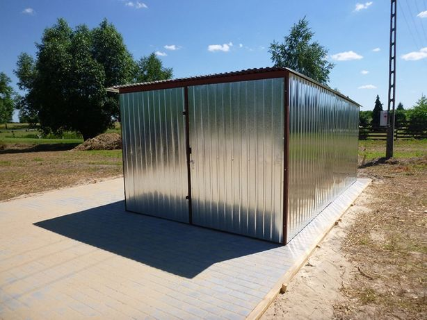 Garaż Blaszany 3x5 WZMOCNIONY Budowa Blaszak na budowę Garaże