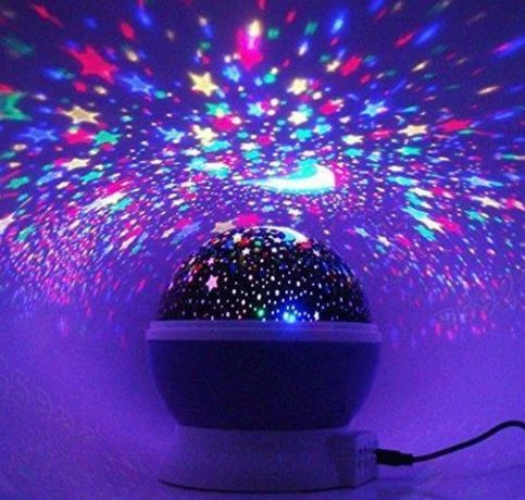 Ночник-проектор Star Master Dream Rotating Звездное небо практичный