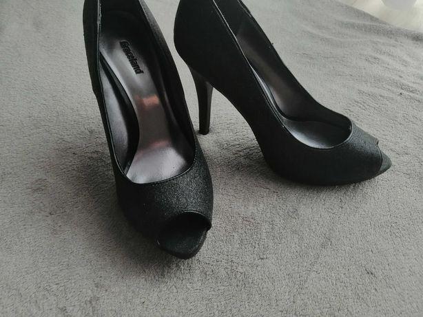 Szpilki Graceland czarne brokatowe