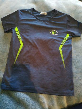 Koszulka sportowa chłopięca t-shirt, krótki rękaw 134/140