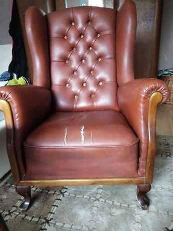 Fotel uszak prl do renowacji