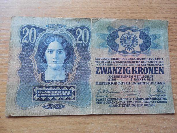Австро-Угорщина 20 крон, 1913