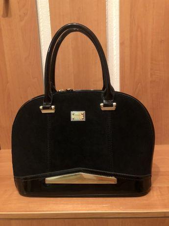 Шикарная женская сумка, черная сумка классика, жіноча сумка класика