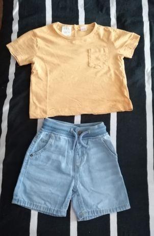 Conjunto Zara - Bermudas e T-shirt 12-18m