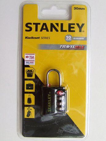 Kłódka STANLEY Travel 30mm szyfrowa czarna KORPUS z LITEGO MOSIĄDZU