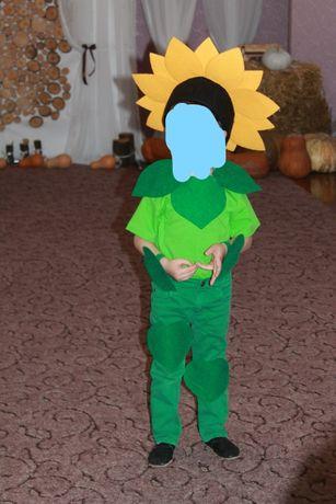 костюм подсолнуха на утренник. карнавальный