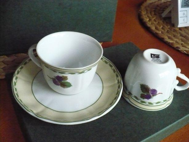 komplet filiżanek kawowo herbaciany