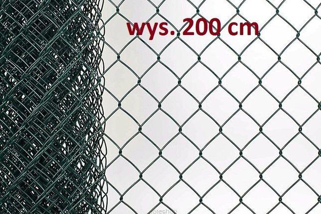 Siatka 200 cm powlekana zielona fi 2/3,3 mm oczko 55x55