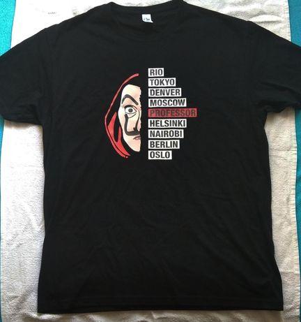 Koszulka męska dom z papieru Bella ciao ,rozmiar L