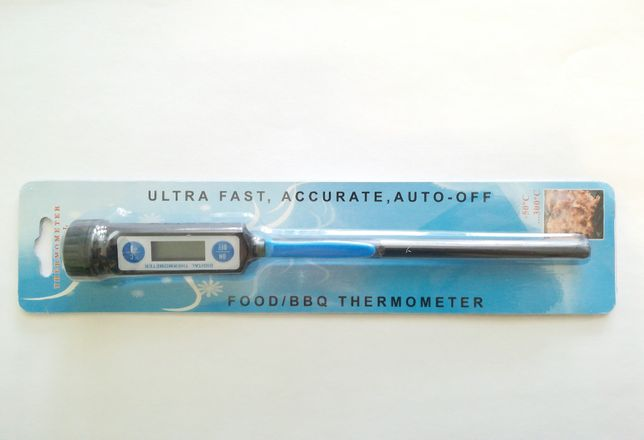 Термометр цифровой, кухонный, пищевой, водоустойчивый (новый)