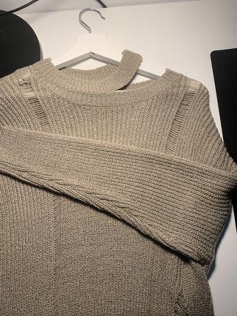Camisola  Rasgada de Malha Tricotada Lanidor