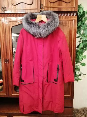 Красное зимнее  пальто Турция