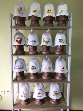 Шапка в баню банная шапка шапка з вишивкою войлочная шапка баня лазня