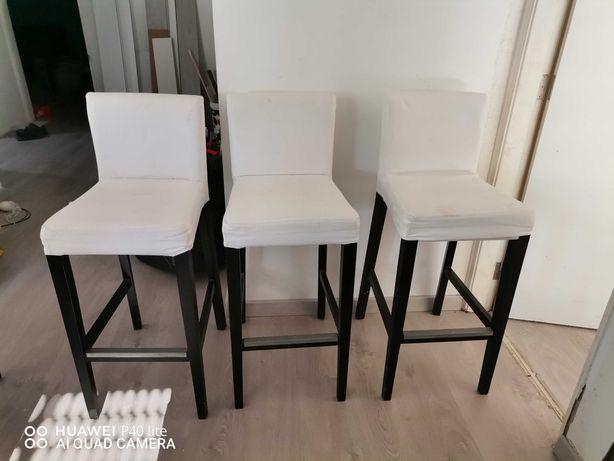 3 cadeiras altas ikea
