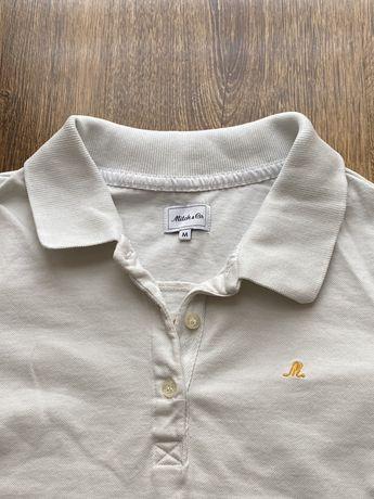 Biała koszulka polo, rozmiar M