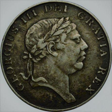 Ирландия 10 пенсов 1813 год Серебро! РЕДКАЯ! В ОТЛИЧНОМ СОХРАНЕ
