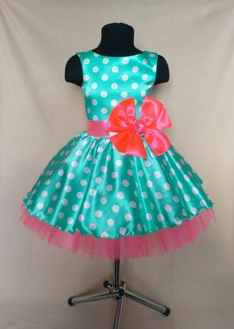 Детское ретро платье. Платье в горох. В стиле стиляги