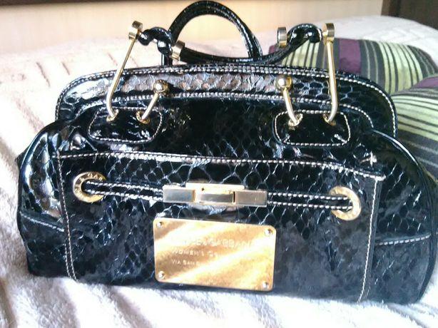 Лакированная женская сумка саквояж Dolce&Gabbana