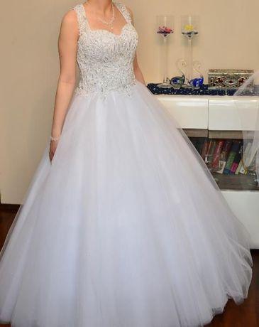 Suknia Ślubna rozm. 36/38 + welon długi 2,7 m GRATIS