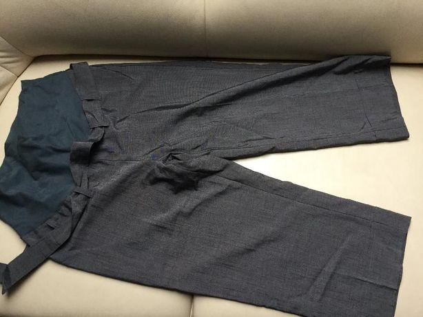 eleganckie spodnie 3/4 grafitowe