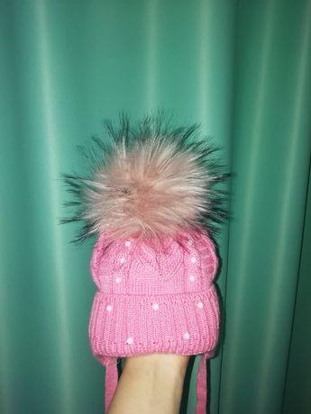 Шапка шапочка зима 62-68