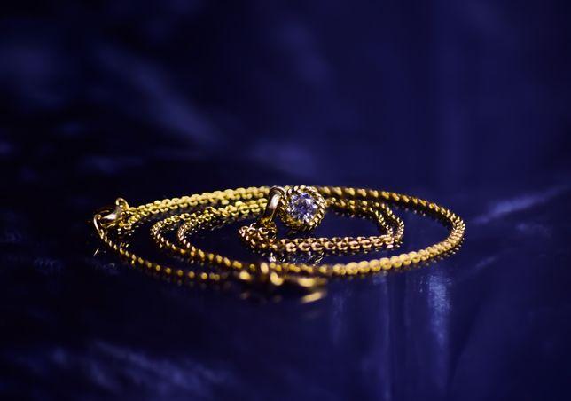 Колье,Цепь,Золото ,Бриллиант 750